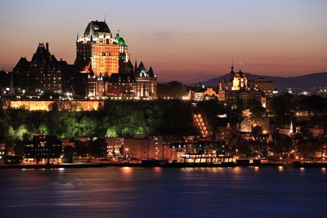 intercambio no canadá quebec city a noite